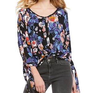 Free People Blue Combo Keepin On Top NWT MSRP $78